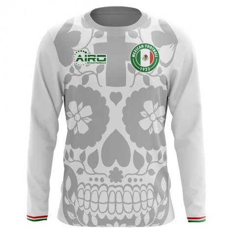 2018-2019 Mexico Long Sleeve Away Concept Football Shirt (Kids)