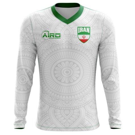 2018-2019 Iran Long Sleeve Home Concept Football Shirt (Kids)