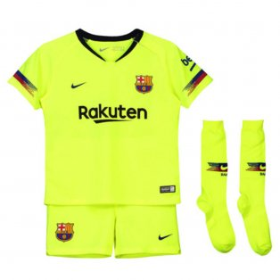 2018-2019 Barcelona Away Nike Little Boys Mini Kit
