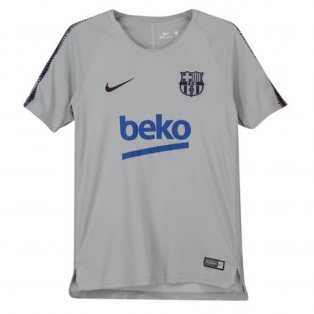 2018-2019 Barcelona Nike Training Shirt (Wolf Grey) - Kids