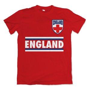 England Shield Logo T-Shirt (Red)