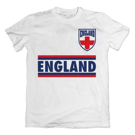 England Shield Logo T-Shirt (White)