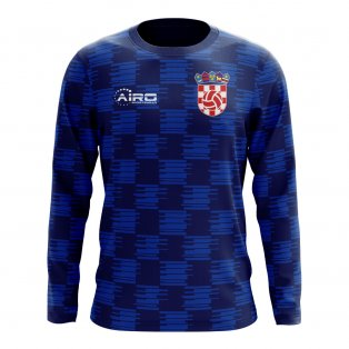 2020-2021 Croatia Long Sleeve Away Concept Football Shirt