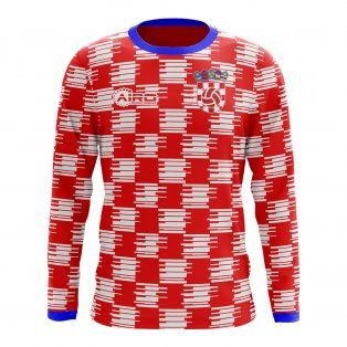 4f095d95143 Mens. 2018-2019 Croatia Long Sleeve Home Concept Football Shirt