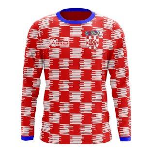 2018-2019 Croatia Long Sleeve Home Concept Football Shirt