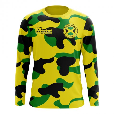 2020-2021 Jamaica Long Sleeve Home Concept Football Shirt (Kids)