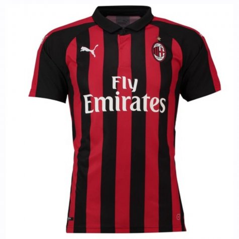 2018-2019 AC Milan Puma Home Football Shirt (Big Sizes)