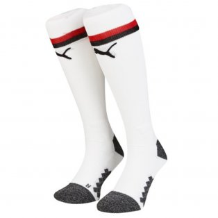2018-2019 AC Milan Puma Home Football Socks (White) - Kids