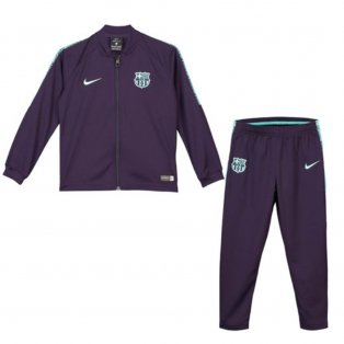 2018-2019 Barcelona Nike Little Boys Tracksuit (Purple) - Kids