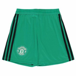 2018-2019 Man Utd Adidas Home Goalkeeper Shorts (Kids)