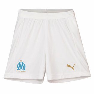 2018-2019 Olympique Marseille Puma Home Shorts (White) - Kids