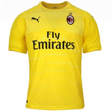 2018-2019 AC Milan Puma Home SS Goalkeeper Shirt (Yellow) - Kids