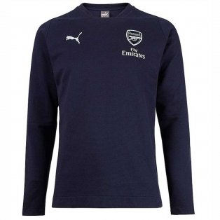 2018-2019 Arsenal Puma Casual Performance Sweat Top (Peacot) - Kids