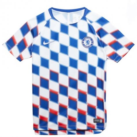 92d9c33b299b 2018-2019 Chelsea Nike Pre-Match Training Shirt (White) - Kids ...