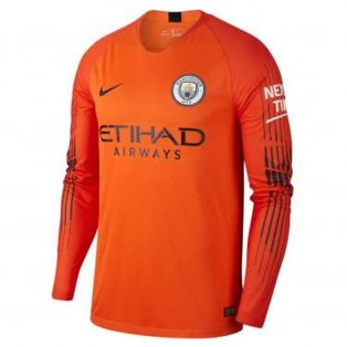2018-2019 Man City Home Nike Goalkeeper Shirt (Orange)