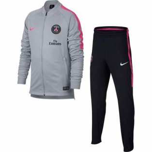 2018-2019 PSG Nike Knit Tracksuit (Wolf Grey) - Kids 04139ead9