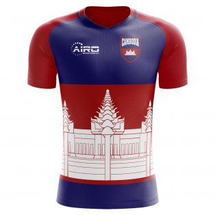 2020-2021 Cambodia Home Concept Football Shirt - Womens
