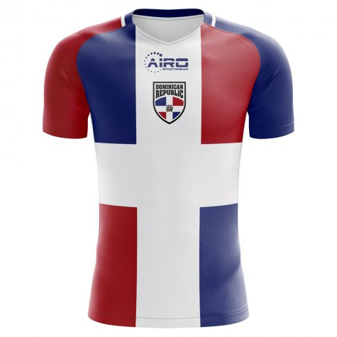 0763c4885a6 2018-2019 Dominican Republic Home Concept Football Shirt ...