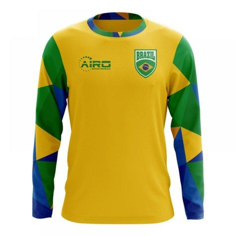 2018-2019 Brazil Long Sleeve Home Concept Football Shirt