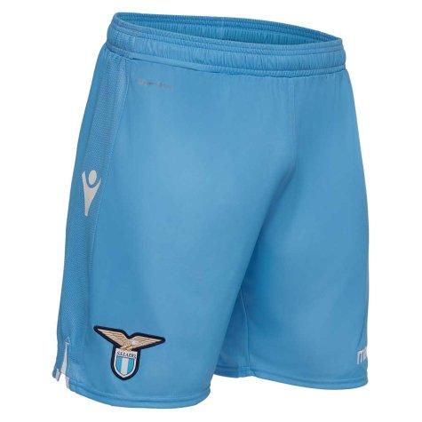 2018-2019 Lazio Macron Home Shorts (Blue) - Kids