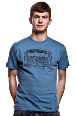 Ludus Quem Itali T-Shirt// Faded Blue 100% cotton