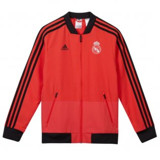2018-2019 Real Madrid Adidas UCL Presentation Jacket (Red) - Kids