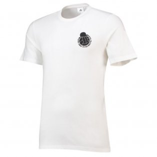 2018-2019 Real Madrid Adidas Graphic Tee (White) - Kids