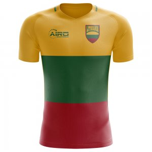 2018-2019 Lithuania Home Concept Football Shirt (Kids)