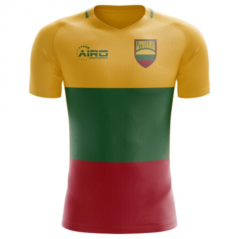 2018-2019 Lithuania Home Concept Football Shirt (Kids)