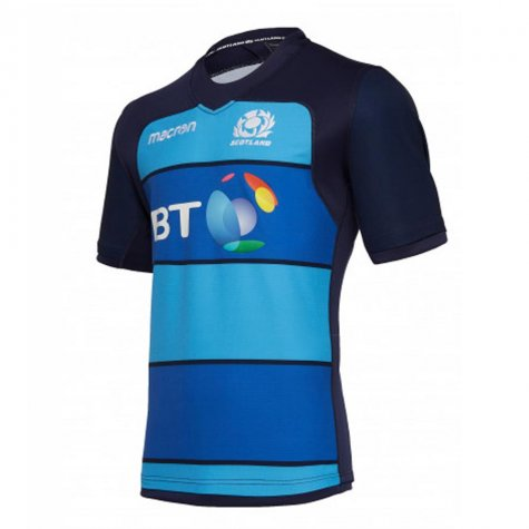 2018-2019 Scotland Macron Rugby Training Jersey (Blue) - Kids
