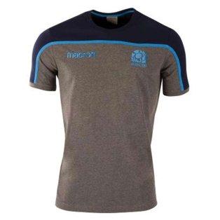 2018-2019 Scotland Macron Rugby Travel Polycotton T-Shirt (Charcoal) - Kids