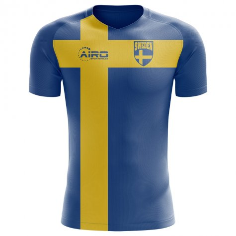 2018-2019 Sweden Flag Concept Football Shirt