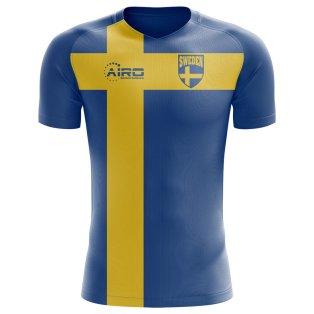2018-2019 Sweden Flag Concept Football Shirt (Kids)