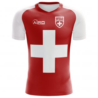 2018-2019 Switzerland Flag Concept Football Shirt (Kids)