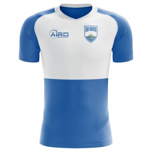 2018-2019 San Marino Home Concept Football Shirt - Kids