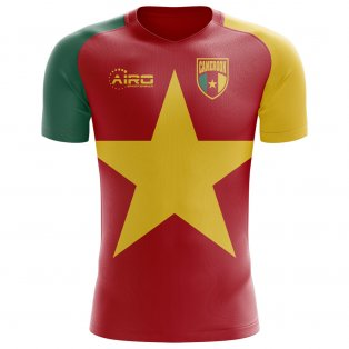 ba62bd32b 2018-2019 Cameroon Flag Concept Football Shirt