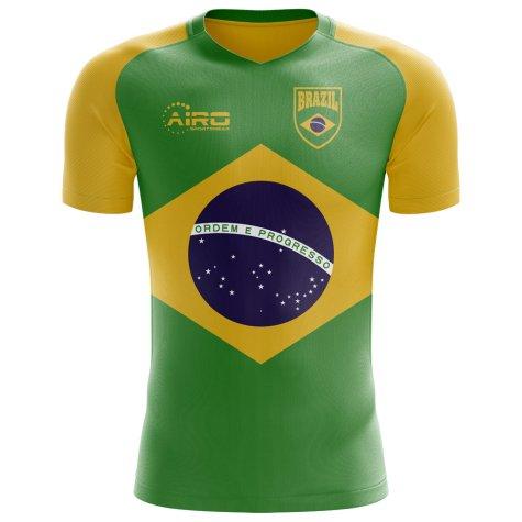 2018-2019 Brazil Flag Concept Football Shirt (Kids)