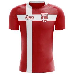 2018-2019 Denmark Flag Concept Football Shirt (Kids)