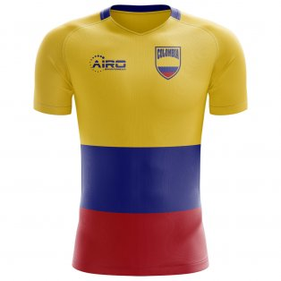 2020-2021 Colombia Flag Concept Football Shirt - Little Boys