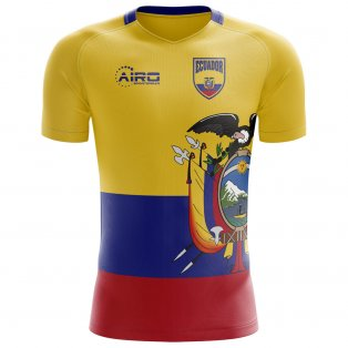 2020-2021 Ecuador Home Concept Football Shirt - Womens