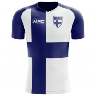 2018-2019 Finland Flag Concept Football Shirt (Kids)