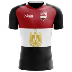 2018-2019 Egypt Flag Concept Football Shirt - Womens
