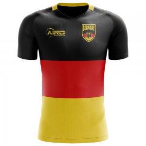2018-2019 Germany Flag Concept Football Shirt - Womens