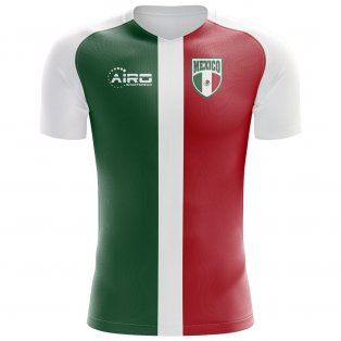 best service 4bfd8 5f88c 2018-2019 Mexico Flag Concept Football Shirt