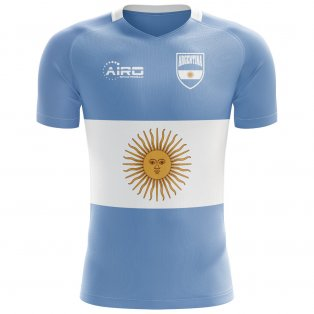 2020-2021 Argentina Flag Concept Football Shirt - Little Boys