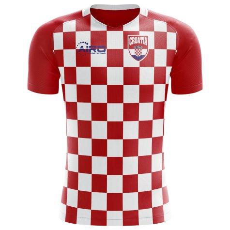 2018-2019 Croatia Flag Concept Football Shirt (Kids)