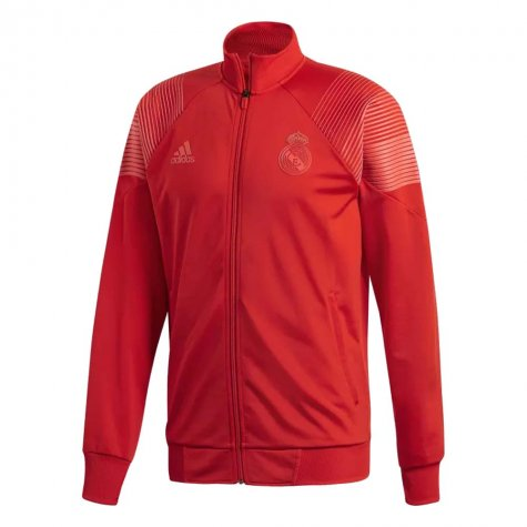 2018-2019 Real Madrid Adidas Icon Track Top (Red)