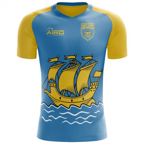 2020-2021 Saint Pierre and Miquelon Home Concept Football Shirt