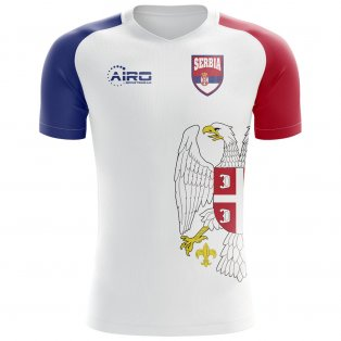 2018-2019 Serbia Flag Concept Football Shirt - Womens