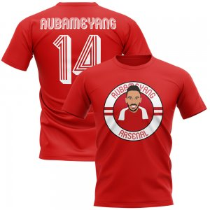 Pierre-emerick Aubameyang Arsenal Illustration T-Shirt (Red)